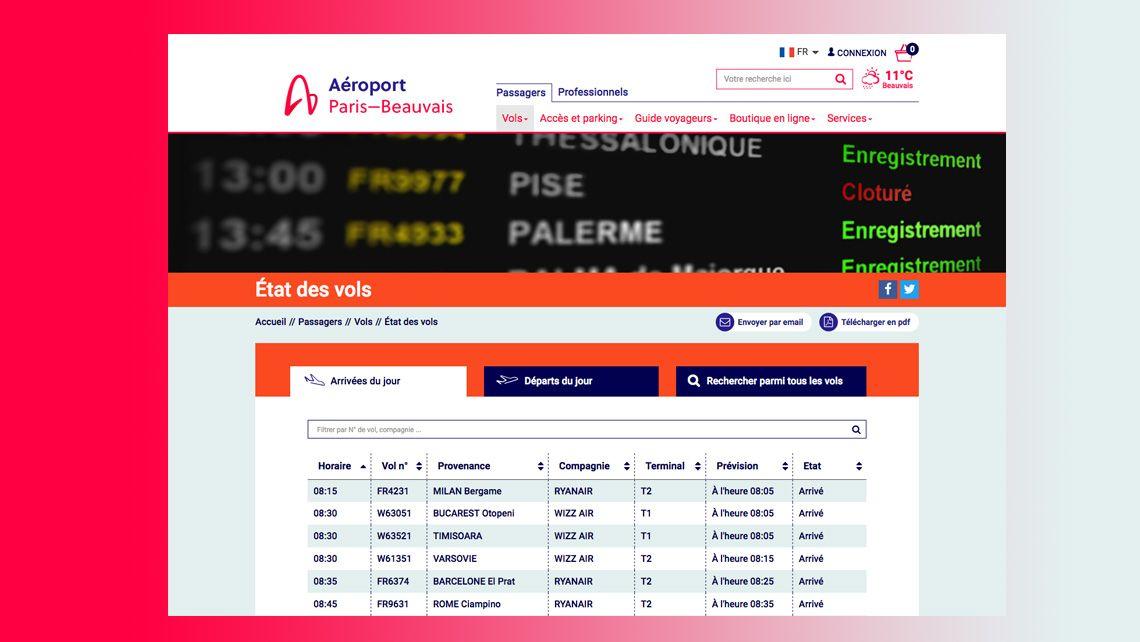 Ewill r alisation du site internet de l 39 a roport paris for Chambre de commerce de paris horaires